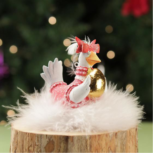 Ludibrium-Krinkles - Mini Goose A Laying Christmas Ornament