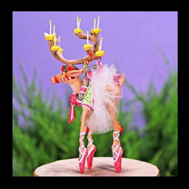 Ludibrium-Krinkles - Krinkles - Dash Away - Rentier Dancer Mini Ornament