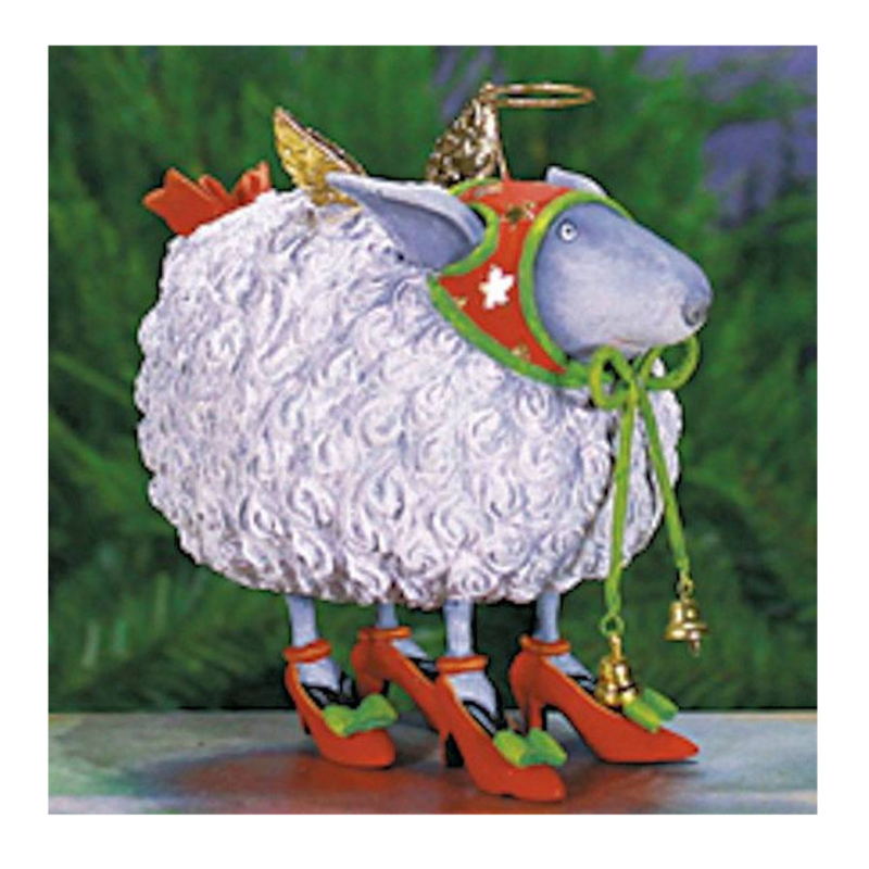 Ludibrium-Krinkles - Blanche White Sheep Ornament
