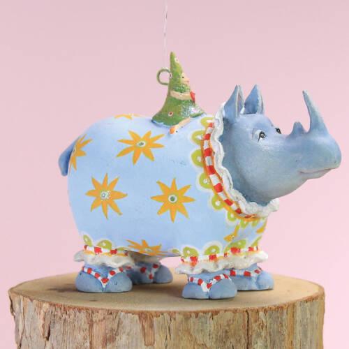 Ludibrium-Krinkles -Jambo Roberta Rhino Mini Ornament