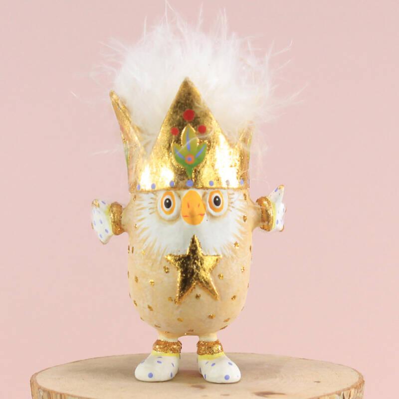Ludibrium-Krinkles - Woodland - Otto Owl Ornament Otto die Eule ist der Patriarch der Eulenfamilie. Er trägt