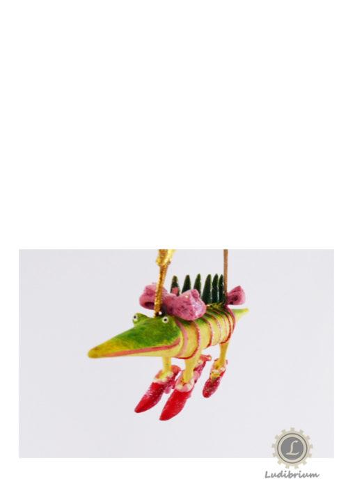 Krinkles - Mini Gloria Alligator mit Tannenbäumchen