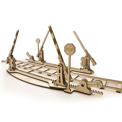 Ugears 3D Holzmodelle Bahnübergang