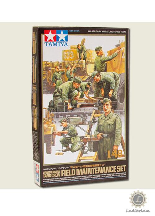 Tamiya -Deutsches Tankpersonal, Feldwartungs-Set, 1:48