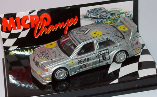Paul's Model Art Minichamps - Mercedes Benz E190 EVO 2 1992 Dekra 6 Rosberg, 1:64