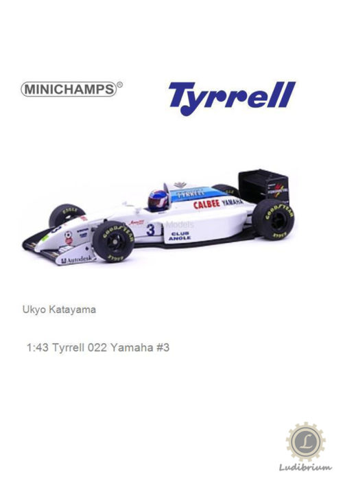 Paul's Model Art Minichamps - Tyrrell Yamaha 022 1994 F1 U. Katayama, 1:43