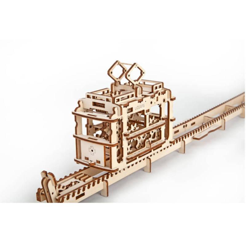 UGEARS 70008 - Strassenbahn, Modell mit Funktion