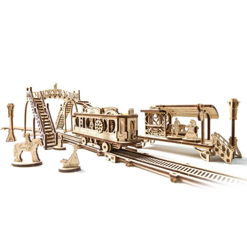 UGEARS 70028 - Tram Linie (Mechanical Town Series)