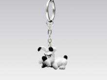 Asterix und Obelix - Schlüsselanhänger Idefix liegend