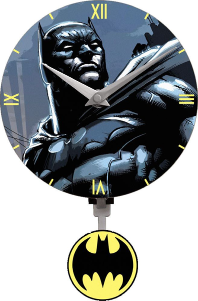 Batman - 3D Mini Motion Wanduhr Swinging Logo