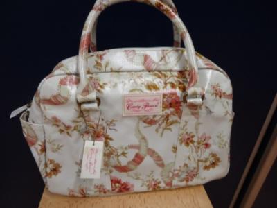 Candy Flowers - Handtasche hellgrau/rosa gemustert