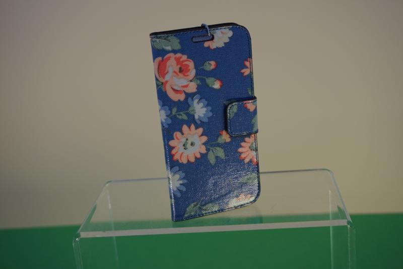 Candy Flowers -S6 Handyhülle hellblau geblumt