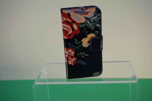 Candy Flowers -S6 Handyhülle schwarz mit Blumen