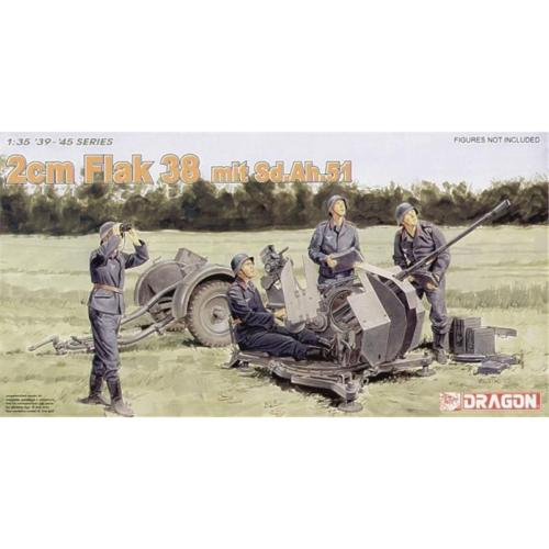Dragon 6288 - 2cm Flak 38 mit Sd.Ah.51, 1:35