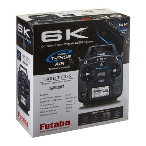 Futaba - T6K-R3006SB-2.4G Mode 1 ohne Akku / Lader