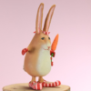 Krinkles - Mini Rebecca Rabbit Ornament