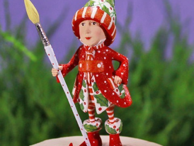 Krinkles - Vixen's Painter Elf Ornament