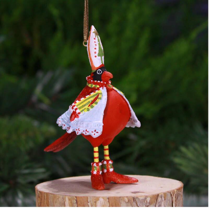 Krinkles - Mini Cardinal Vogel Ornament