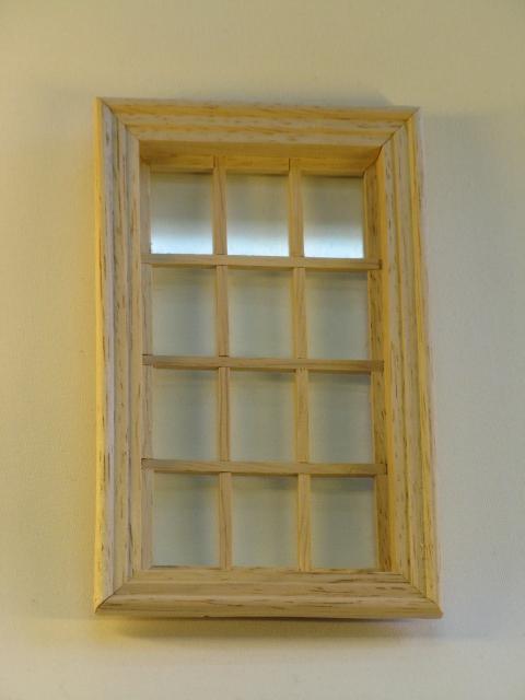 Mini Mundus - 12tlg. Sprossenfenster mit echtem Glas 1:12