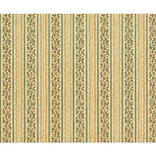 Mini Mundus - Tapete Blumenranken und Streifen