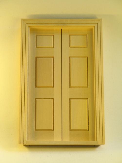 Mini Mundus - Zweiflügelige Salontür 1:12