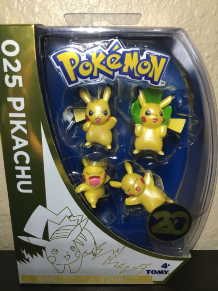 Pokémon - Metallic Minifiguren - 4er Pack