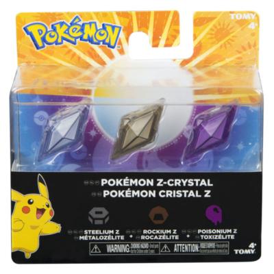 Pokémon - Z-Kristall 3-er PackBlau, Schwarz, Violett