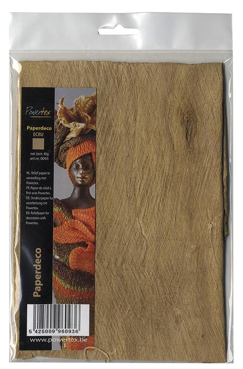 Powertex - Paperdeco ecru - 40 gr