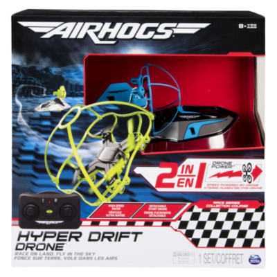 Spinmaster - Hyperdrift Drone 2in1, blau
