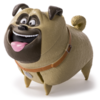 Spinmaster - The Secret Life of Pets - Mel gross (laufendes und sprechendes Haustier)