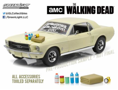 The Walking Dead - 1967 Ford Mustang with Hood Acc., 1:18