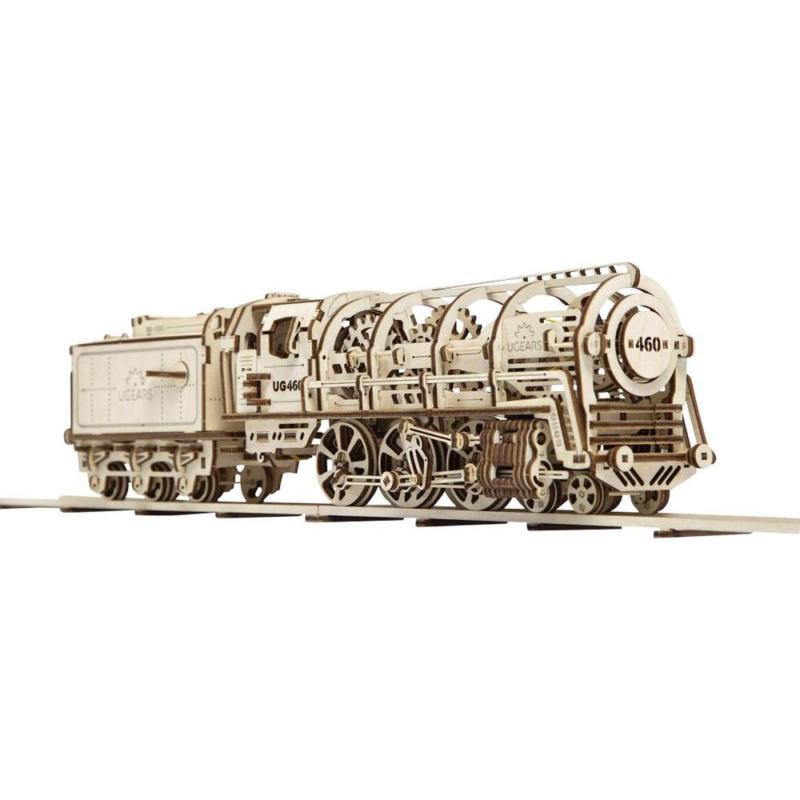 UGEARS 70012 - Lokomotive mit Tender und Funktion