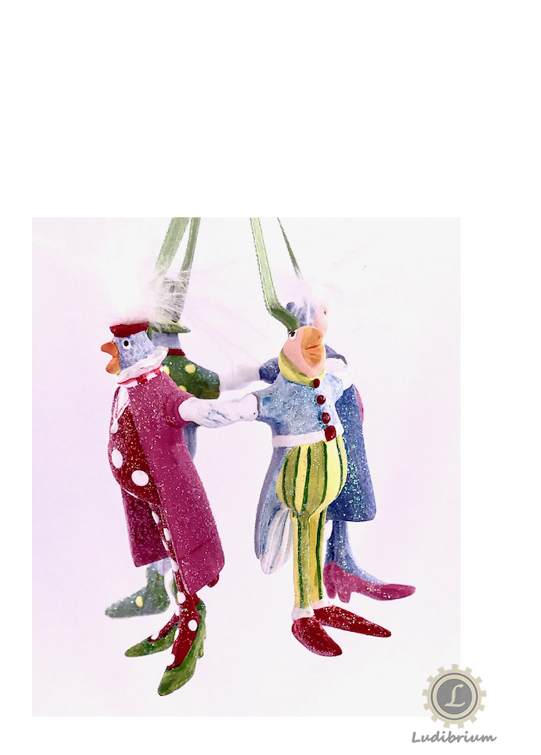 Krinkles - Four Calling Birds Ornament