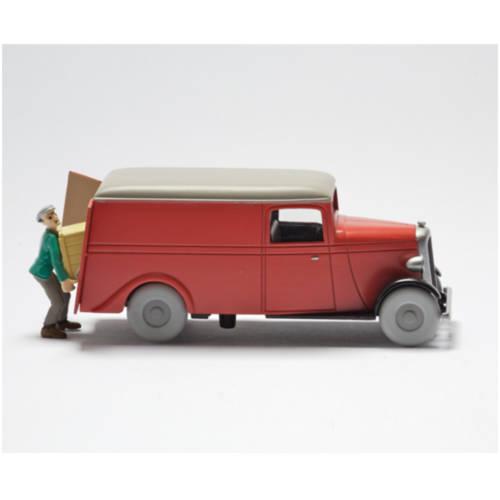 """Tim und Struppi - Tintin et milou - Lieferwagen aus """"das Geheimnis der Einhorn / la camionette du secret de la licorne, 1:43"""