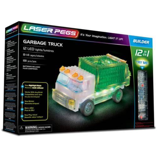Ludibrium-Laser Pegs - 12 in 1 Carbage Truck - Klemmbausteine