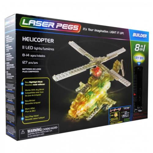 Ludibrium-Laser Pegs - 8 in 1 Helicopter - Klemmbausteine