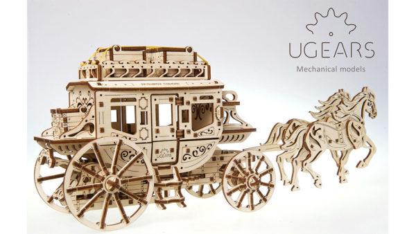 UGEARS 70045 - Stagecoach , Modell mit mechanischer Funktion