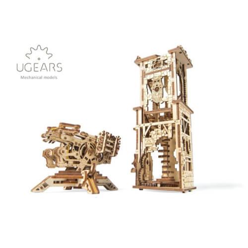 UGEARS 70048 - Archballista-Tower - mechanischer Holzbausatz