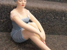 Badenixe im Art Deco Stil, gross, sitzend
