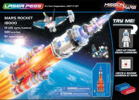 Laser Pegs - Mars Rocket w/Sound Module