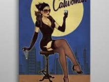 Metall-Poster Catwoman 10 x 14 cm