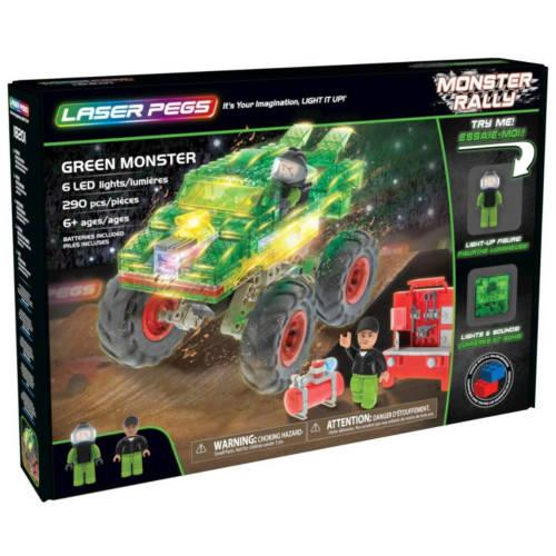 Ludibrium-Laser Pegs - Monster Rally - Green Monster - Klemmbausteine