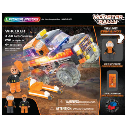 Ludibrium-Laser Pegs - Monster Rally - Wrecker - Klemmbausteine