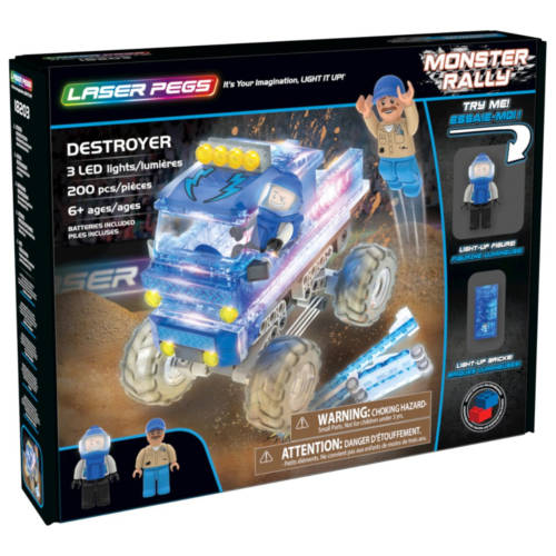 Ludibrium-Laser Pegs - Monster Rally - Destroyer - Klemmbausteine