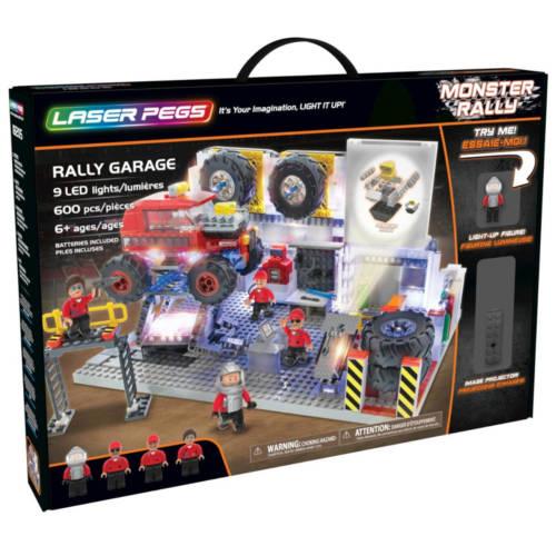 Ludibrium-Laser Pegs - Monster Rally - Rally Garage - Klemmbausteine