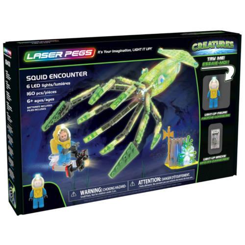 Ludibrium-Laser Pegs - Creatures - Squid Encounter - Klemmbausteine