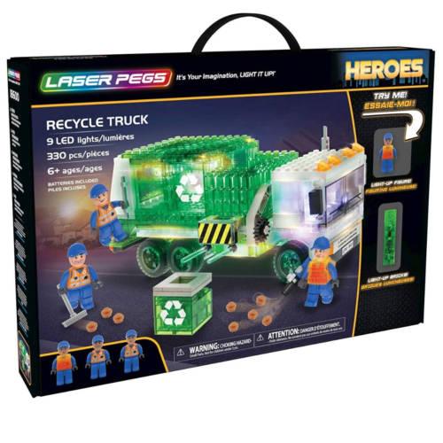 Ludibrium-Laser Pegs - Heroes - Recycle Truck - Klemmbausteine