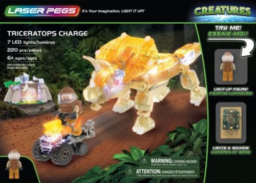 Laser Pegs - Creatures - Triceratops Charge