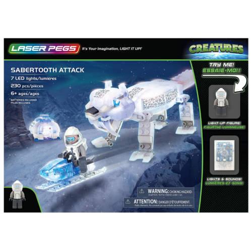 Ludibrium-Laser Pegs - Creatures - Sabbertooth Attack - Klemmbausteine
