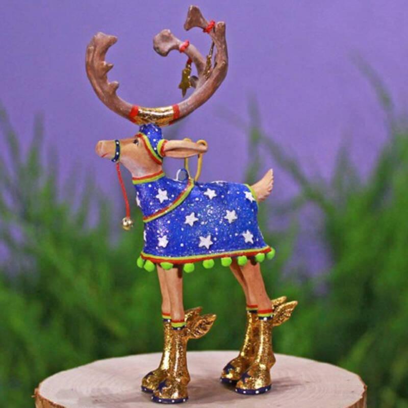 Ludibrium-Krinkles - Dash Away - Rentier Komet Mini Ornament